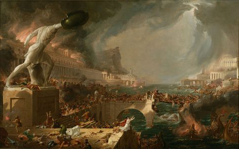 Just as the Roman Empire eventually collapsed, leaving behind chaos and empty ruins, America and her empire will eventually succumb to the structural faults she is built on.